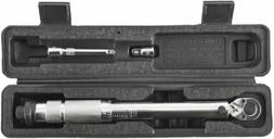 """NEW! 1/4"""" Drive Adjustable Torque Wrench Tool 20-200 in/lbs"""