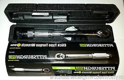 "**NEW** PITTSBURGH PRO 1/4"" DRIVE CLICK STOP TORQUE WRENCH W"