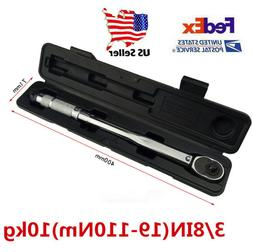 """NEW 3""""8 Torque Wrench Snap Socket Professional Drive Click T"""