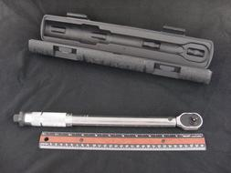 """Pittsburgh 3/8"""" Drive Click-Stop Reversible Torque Wrench 5-"""