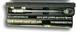 Pittsburgh Pro 1/2 in. Drive Click Type Torque Wrench Free S