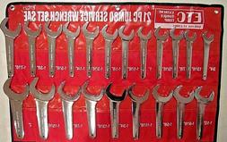 SAE 21 pc Jumbo Hydraulic Line Service Open End Wrench Set E