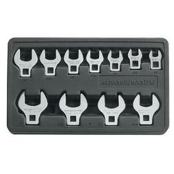 11Pc Sae Crowfoot Wrench Set 3/8 - 1