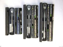 Set of 3 1/4, 3/8, 1/2 Drive Click Type Torque Wrench Snap S