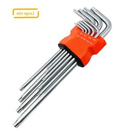 Torx Hex Key Wrench Set, Long Arm Tamper Proof Star Screwdri