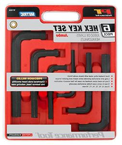 Performance Tool W1938 6 Piece Jumbo Hex Key Metric Set