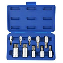 ESKALEX>>10pc XZN 12 Point MM Triple Square Spline Bit Socke